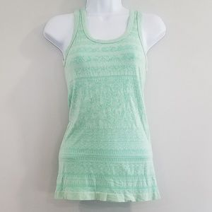Athleta Small Back to Basics Lace Stripe Tank